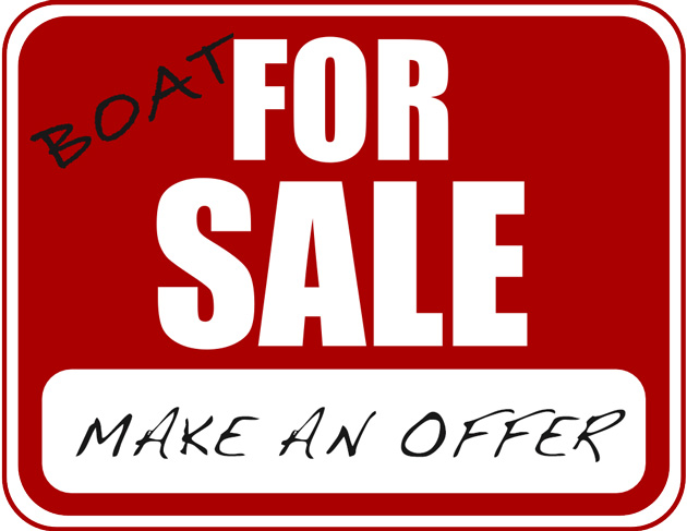 boat for sale sign