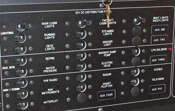 A traditional C-series breaker panel.