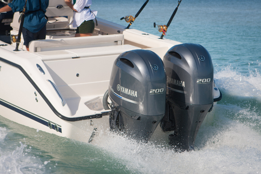 Yamaha F200 outboard engine