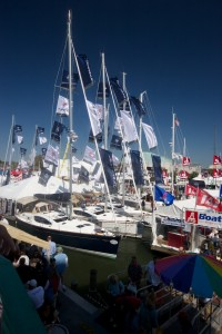 A photo of the United States Sailboat Show in Annapolis, MD.