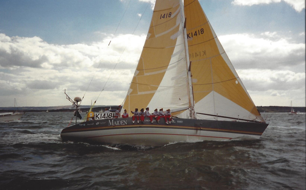 Maiden sets off in 1989 Whitbread Round the World Race