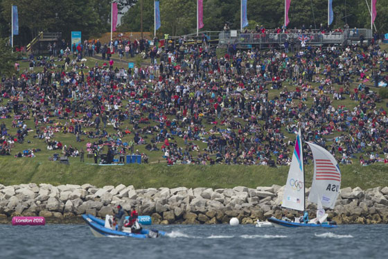 Olympics 2012 Nothe crowds match racing USA