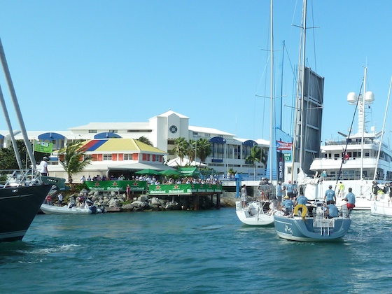 St. Maarten Yacht Club, favorite yachting bar 2012