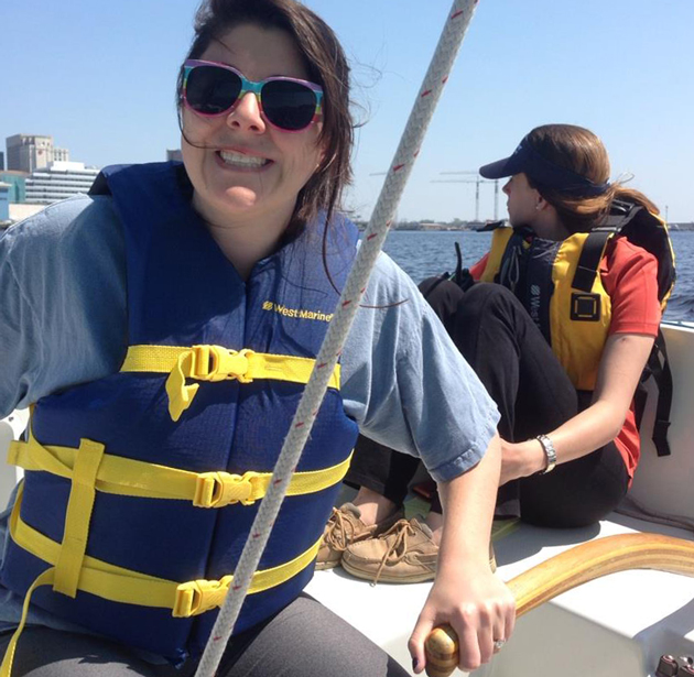 Learning to steer a sailboat