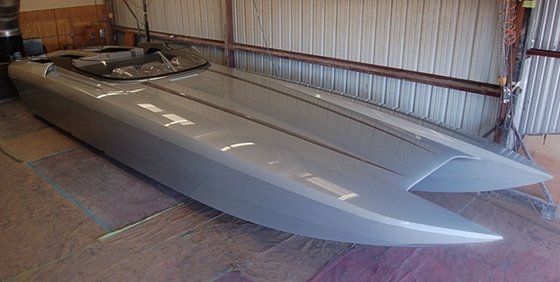 Hull and Deck Complete for 41-Foot DCB Cat