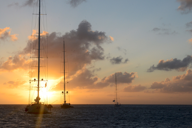 Sunset from Gustavia, St. Barths