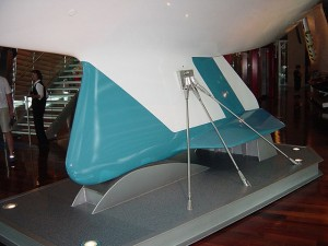A photo of Australia II's winged keel.