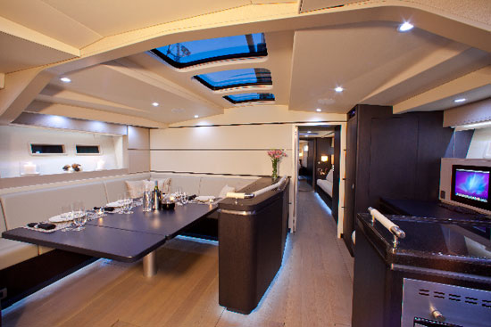 Aegir's spacious and luxurious interior