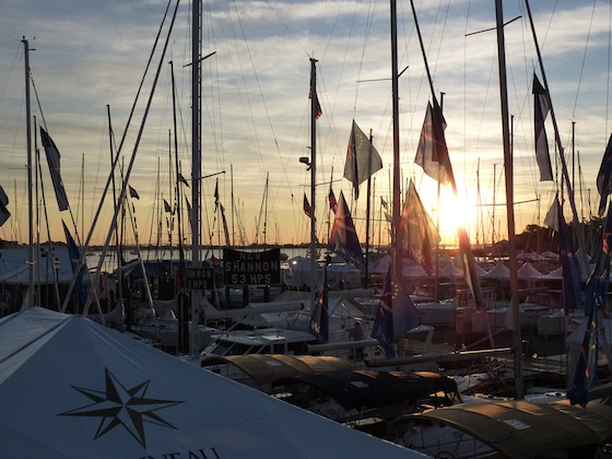 Sunrise on America's biggest sailboats-only show