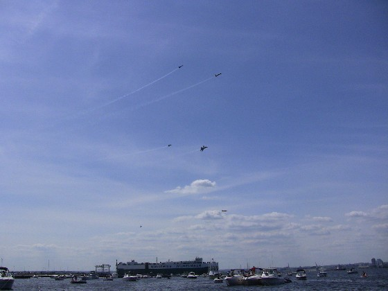 Thousands of boats and hundreds of thousands of people on land came to see the Sailabration in Baltimore, MD.