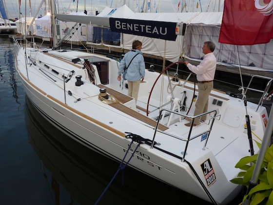 Annapolis Beneteau dealer Garth Hichens shows off the new First 40.