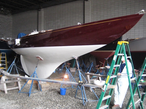 With topsides and bottom freshly painted, Norwegian Wood looks good at age 50. A party might be in order this summer.