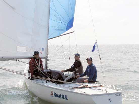 The sailing is the easy part of international regattas, because so much is the same.  Photo courtesy Paul Cronin/WhiteCapVideo.com