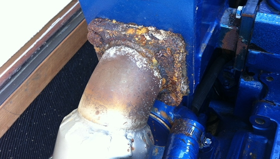rusted exhaust elbow