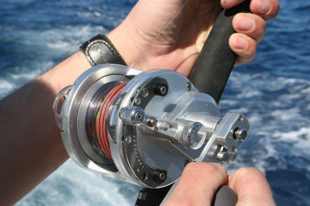 fishing line on reel