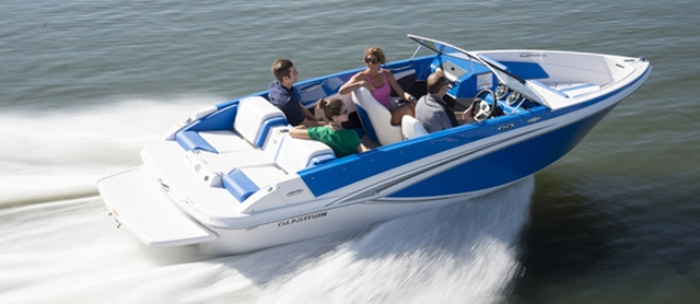 The Glastron GT-187 is one of a new series of jet boats introduced by the well-known company.