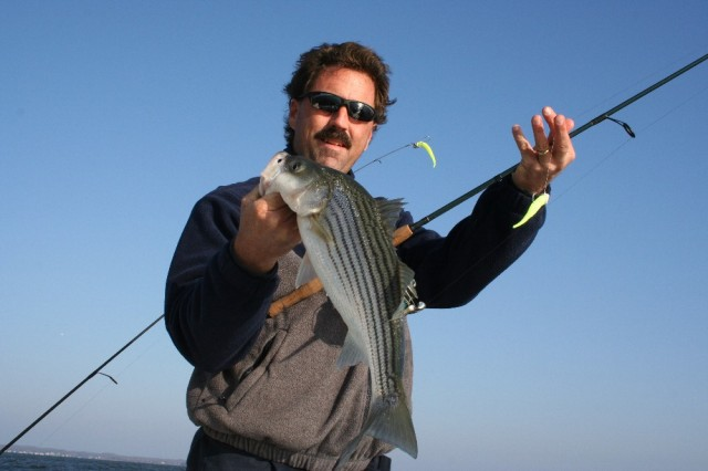 striped bass fishing with gulp jigs