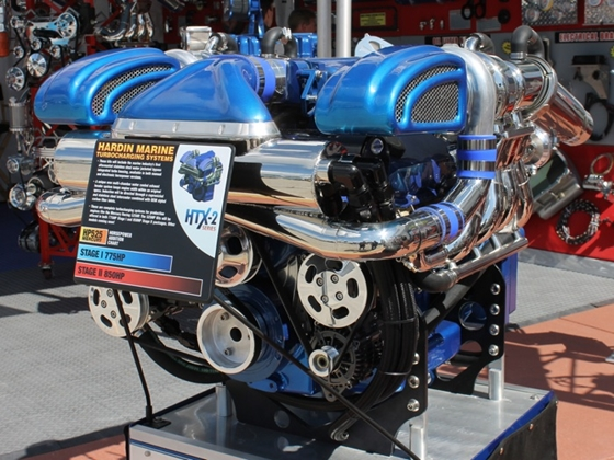 The Hardin Marine Stage 1 turbocharging kits for the Mercury Racing 525 EFI will be priced