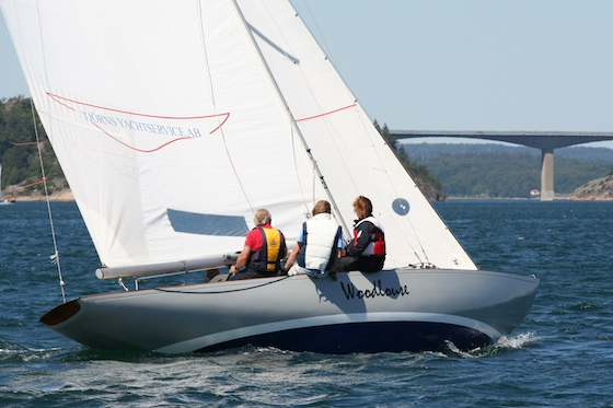 Woodlouse, the most famous International One-Design in Sweden, sailed by world champion Urban Ristorp