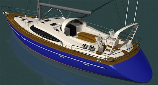 Equipped with dual-steering stations and radar arch, the Jacaroni 64RS