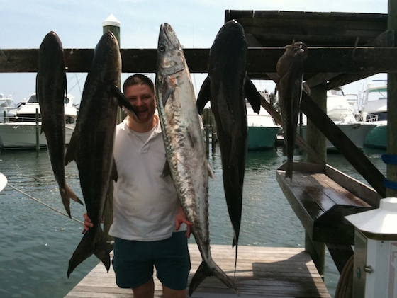 Joe's Cobia and Kingfish were the biggest catches of the day.