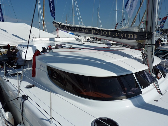 Fountaine-Pajot's new Lipari 41 includes F-P's great wrap-around styled saloon.