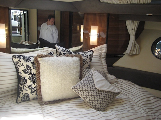 The 50's master stateroom is forward.