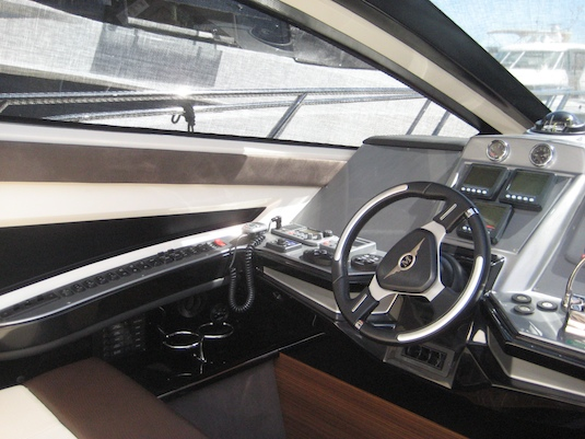 The 500 Sports Coupe's helm station