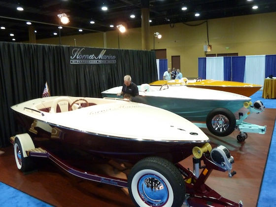The burgundy Hornet 17-footer shown in Orlando, Florida, came with a '50s look