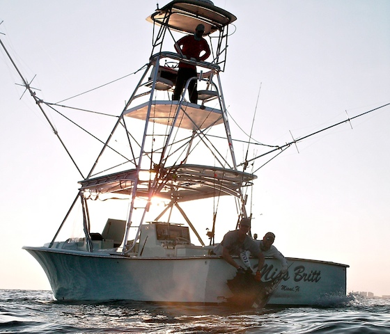The 34-foot Miss Britt, a custom charter fishing boat