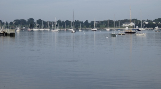 Newport Harbor, Friday morning: The classic calm before the storm