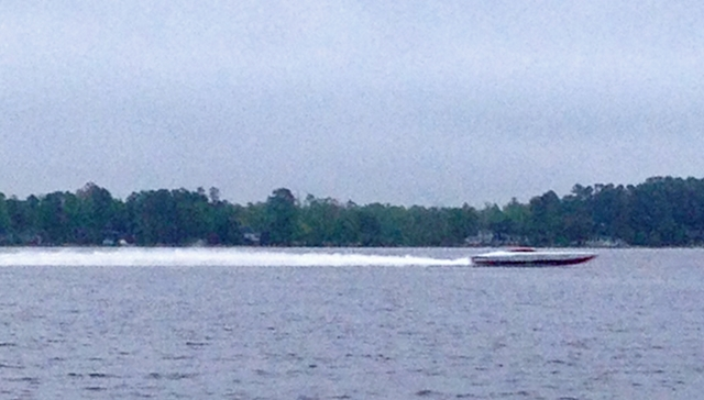 In the early morning light of April 29: The fastest pass for the 43-footer was more than 181 mph.  Matt Trulio photo.