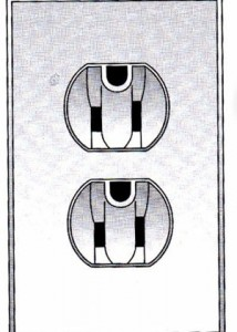 Fig 1 outlet (round grounding wire face up)