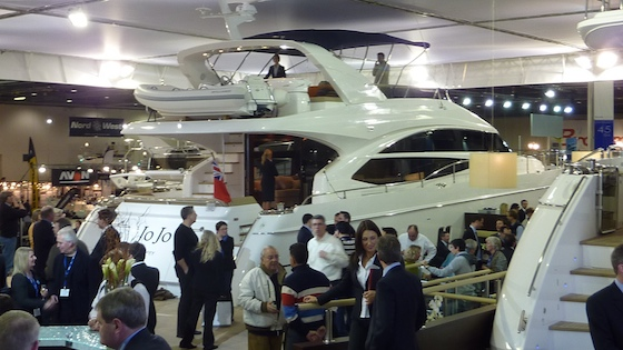 The Princess 72 Motoryacht at the company's busy stand in London.