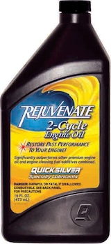Rejuvenate 2-cycle engine oil promises to clean up your old outboard.