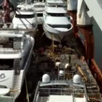 Sevenstar marine offloads yachts in time lapse video