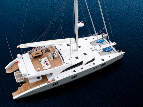 The Sunreef 102 catamaran, built in Poland
