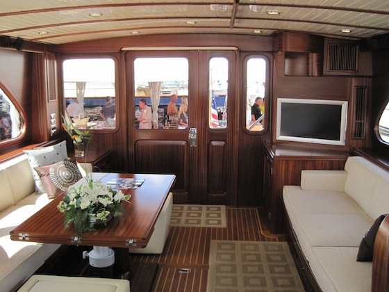 The main saloon of the Vicem 72 Classic
