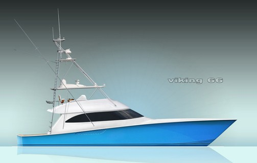 Viking's 66 Convertible will hit the water first, followed by an enclosed bridge model.