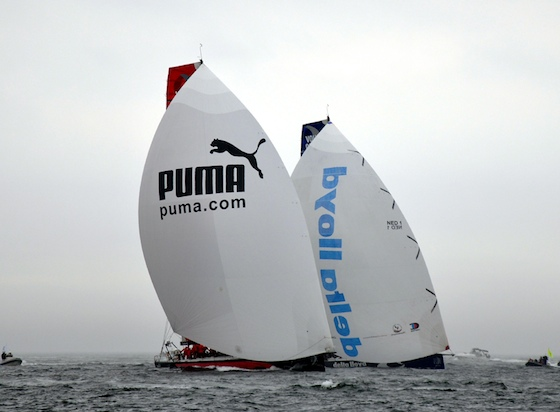 Puma and Delta Lloyd on a downwind leg. Photo by Bill Bolin