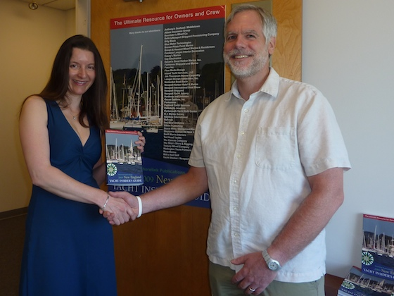 Anne Vandromme and Rick Hood, publishers of the first New England Yacht Insider's Guide